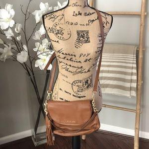 Michael Kors camel flap crossbody